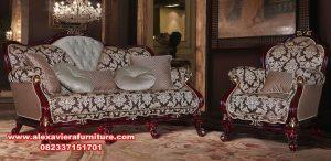 set sofa kursi tamu mahoni mewah klasik kt-375