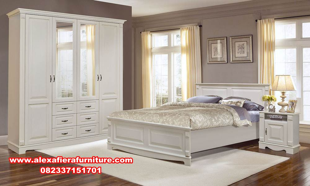 Set Tempat Tidur Minimalis Putih Terbaru Veneto Alexaviera