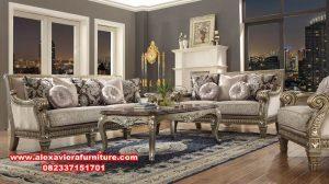 sofa ruang tamu klasik model silver kt-366