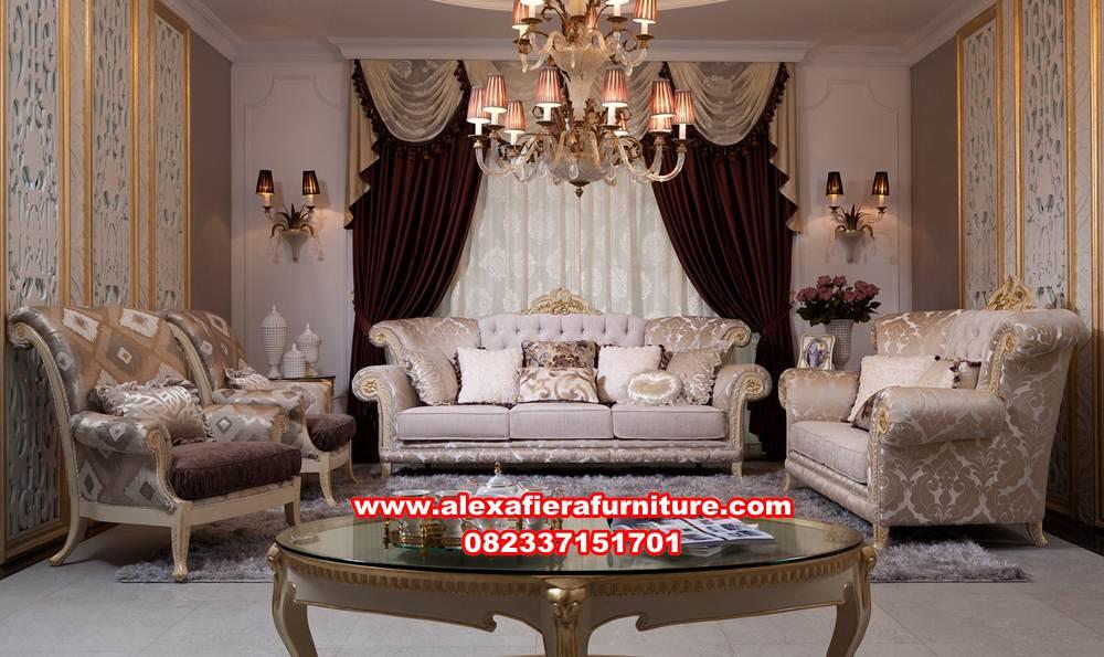 Sofa Ruang Tamu Mewah Modern Raya Alexaviera Furniture
