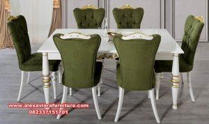 meja makan modern mewah 6 kursi terbaru km-373