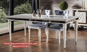meja makan set modern mewah terbaru km-376