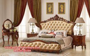 1 set tempat tidur klasik eropa terbaru skt-184
