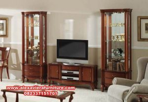 model set bufet tv modern klasik mahoni ah-216