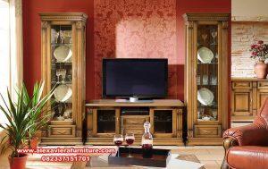 set bufet tv jati minimalis model terbaru ah-213