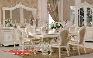 set kursi makan klasik mewah terbaru pearl, set kursi makan klasik, set kursi makan mewah, meja makan mewah modern, kursi makan modern, set kursi makan, set meja makan, set kursi makan ukiran, set kursi makan model terbaru