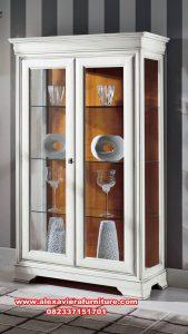lemari kristal minimalis mewah pintu 2, lemari kristal, lemari hias minimalis, lemari kristal mewah, lemari hias mewah terbaru, model lemari hias modern