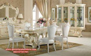 set kursi makan klasik, meja makan modern terbaru, meja makan 6 kursi model mewah klasik, set kursi makan mewah, meja makan mewah modern, kursi makan modern, set kursi makan, set meja makan