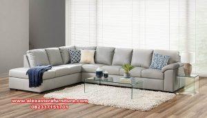 set sofa sudut minimalis modern terbaru kt-401