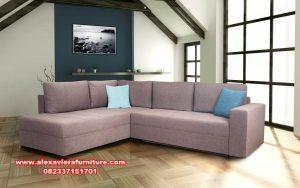 sofa ruang tamu modern sudut minimalis kt-398