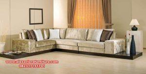 sofa tamu minimalis sudut mewah terbaru kt-400