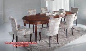 ukuran meja makan 6 kursi modern minimalis km-393