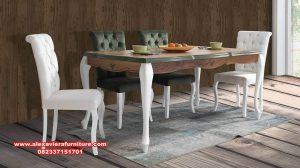 satu set kursi makan duco minimalis modern, kursi makan modern, set kursi makan, set meja makan, gambar kursi makan, set kursi makan duco, model meja makan terbaru