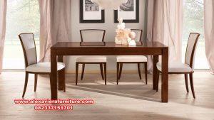 kursi makan minimalis, set kursi makan, satu set kursi meja makan jati minimalis, set kursi makan jati, set meja makan, gambar kursi makan, model meja makan terbaru