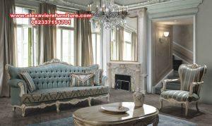 satu set sofa ruang tamu klasik duco eropa kt-410