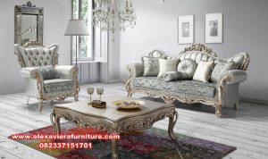 satu set sofa ruang tamu klasik mewah kt-409