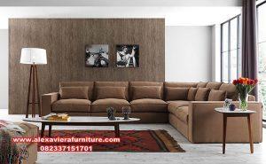 satu set sofa tamu sudut minimalis modern kt-414