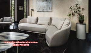 satu set sofa tamu sudut modern mewah minimalis kt-413