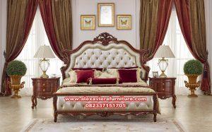 satu set tempat tidur kayu jati klasik eriko skt-186