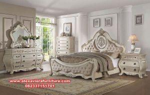 satu set tempat tidur klasik eropa mewah terbaru skt-188
