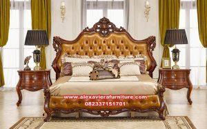 satu set tempat tidur klasik mewah jepara skt-187