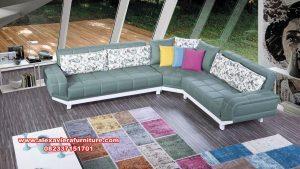 satu set sofa ruang tamu sudut minimalis modern kt-415