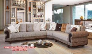 satu set sofa ruang tamu sudut modern minimalis kt-416