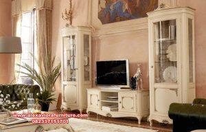 set bufet tv klasik kayu mahoni mewah ah-226