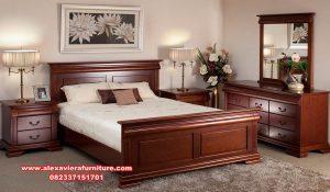 model 1 set tempat tidur jati minimalis terbaru skt-192