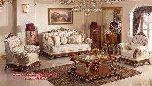 kursi sofa tamu mewah klasik kayu jati terbaru kt-423