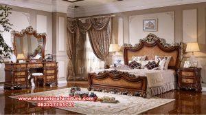 model 1 set tempat tidur klasik jati modern skt-196