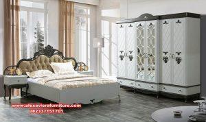 model 1 set tempat tidur modern klasik putih skt-197