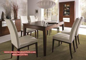 model set meja makan minimalis jati modern km-414