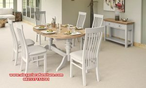 model meja makan oval duco minimalis km-422
