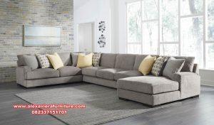 model sofa ruang tamu sudut terbaru minimalis kt-430