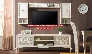 set bufet tv minimalis modern ukir duco ah-234