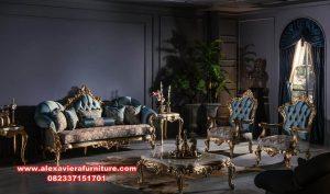 sofa ruang tamu klasik gold ukir mewah kt-438