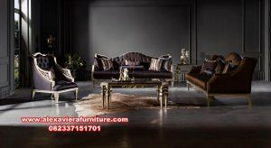 sofa ruang tamu modern klasik gold ukir kt-439