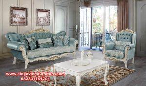 sofa ruang tamu modern klasik ukiran jepara km-437