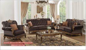 sofa tamu klasik ukir modern terbaru kt-449