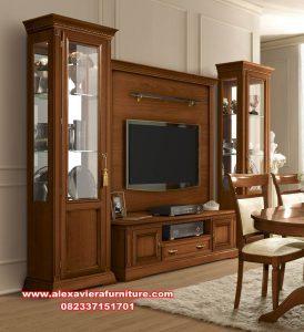 bufet tv minimalis klasik model terbaru jati ah-246
