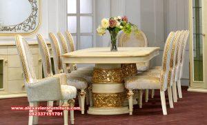meja kursi makan klasik mewah ukir, set meja makan klasik mewah, meja makan mewah, meja makan ukir, meja makan klasik, set meja makan, set kursi makan, kursi makan