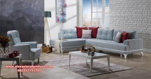 sofa ruang tamu sudut modern minimalis kose km-465