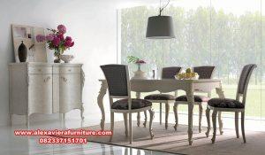 model meja makan 6 kursi klasik, meja makan klasik, meja makan 6 kursi, meja makan kaca, model meja makan, set meja makan, set kursi makan, kursi makan, meja makan klasik mewah