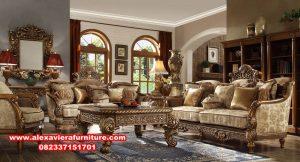 Model sofa tamu ukir klasik mewah ashok design Kt-495