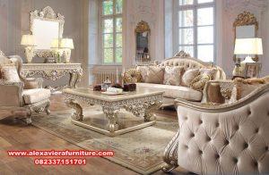 Set sofa tamu Jepara terbaru ukiran mewah haliza Kt-497