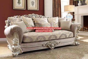Sofa ruang keluarga ukiran mewah modern Kt-498