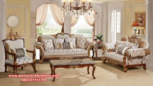 Set sofa kursi jati mewah luxurious tradisional Kt-505