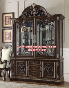 harga produk lemari hias kayu jati berkualitas ah-296