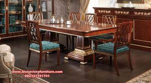 Set kursi meja makan modern minimalis kayu jati divano Km-497